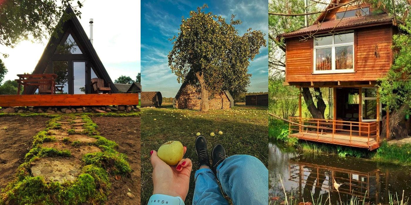 Залечь на дно в Беларуси. Подборка «хижин», шале и домов на деревьях для туристов