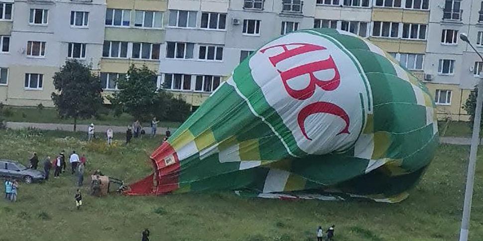 Что это было? В минском микрорайоне Сухарево приземлился воздушный шар