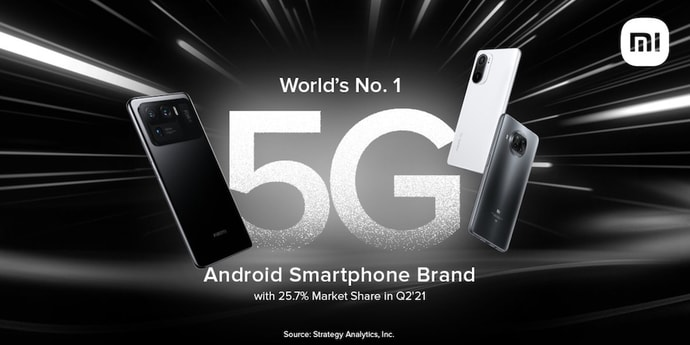 Xiaomi стала главным производителем 5G-смартфонов на Android