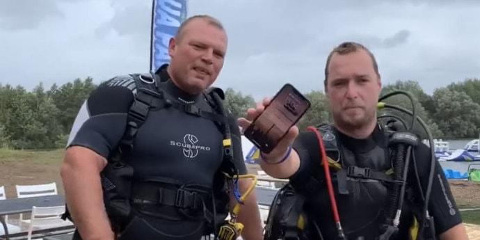 Со дна озера достали работающий iPhone, который пролежал там несколько дней(видео)