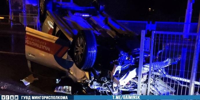 В Минске пьяный водитель перевернулся на каршеринге