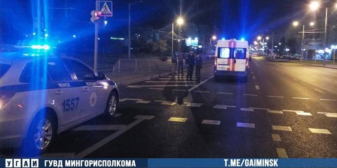 В Минске водитель сбил пешехода: водитель —«бесправник», пешеход пьяный