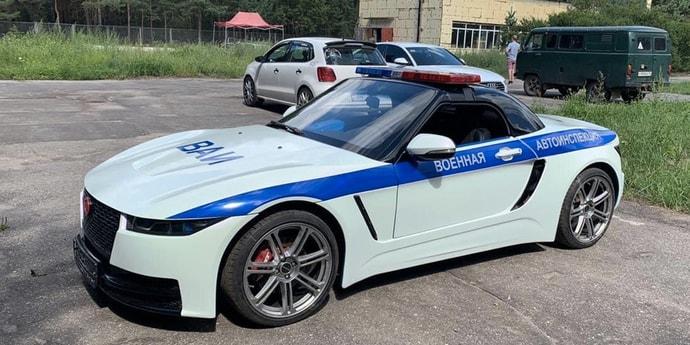 Из родстера «Крым» сделали машину для Военной автоинспекции