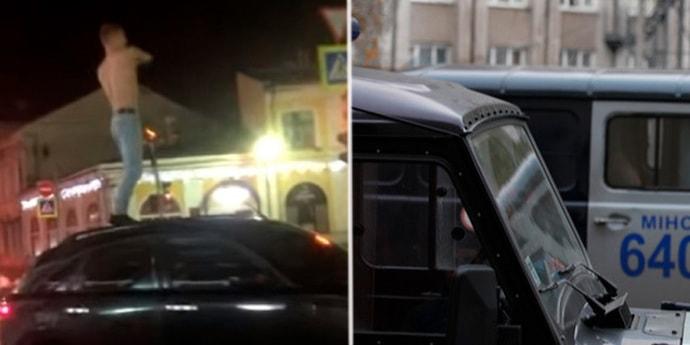 Минчанин решил пошутить и потанцевать на машине. Сейчас его подозревают в хулиганстве