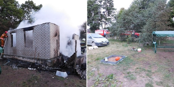 На даче в Гродненской области погиб мужчина и его 9-летний сын