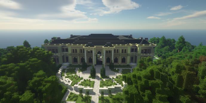 Геймеры создали «Дворец Путина» в Minecraft. Теперь по нему можно погулять