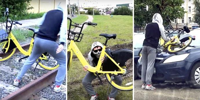 Зачем на самом деле в багажнике возили велосипед? Самый глупый пранк года(видео)