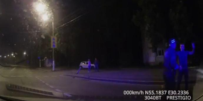 Витебск: пьяный бесправник решил удрать от ГАИ, но перевернул свою машину