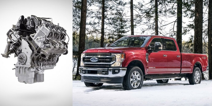 Ford Super Duty получил 7,3-литровый агрегат. Рекорд среди пикапов!