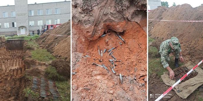 В белорусской школе нашли огромный арсенал боеприпасов