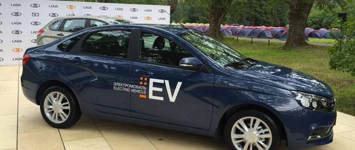 Из Lada Vesta сделали электромобиль с запасом хода 200 километров