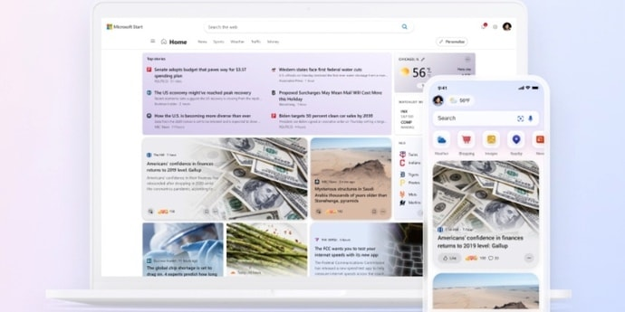 Microsoft выпускает персонализированный новостной сервис