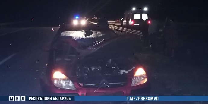 Этой ночью на М1 сбили насмерть пешехода