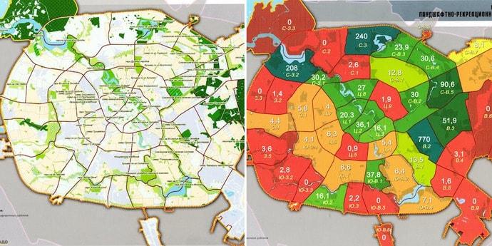 В сети появились «секретные» карты озеленения Минска