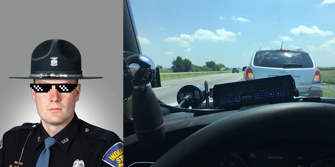 США: полицейский оштрафовал медлительного водителя, занимавшего левую полосу, и стал героем интернета