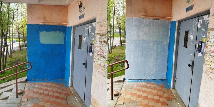 Я коммунальщик, я так вижу. В Минске ЖЭС перекрасил подъезд так, что оставил в недоумении жильцов