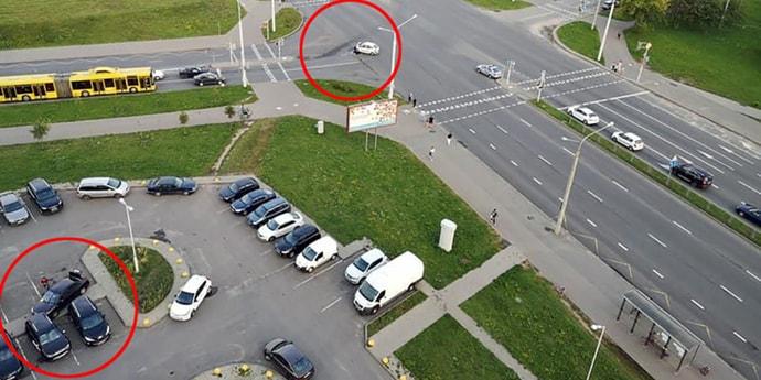 Очевидцы аварии в Минске: парню стало плохо за рулем, наверное,приступ