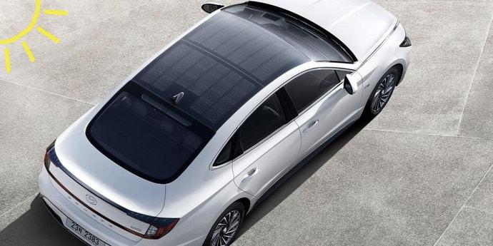 Hyundai Sonata Hybrid получил солнечные батареи на крышу