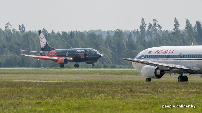 nouveau et ancien avion belavia