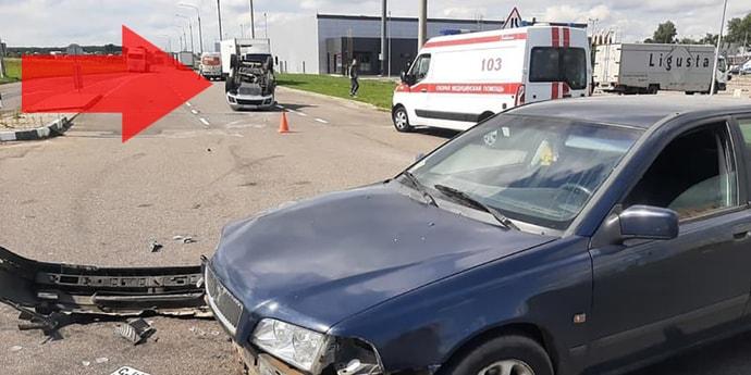 «На Volvo был я»: авария с переворотом глазами участника