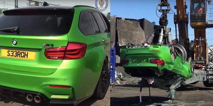 Британец построил универсал BMW M3 из угнанных машин. Авто конфисковали и уничтожили