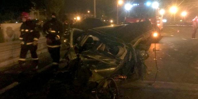 Серьезная авария на МКАД, четверо пострадавших(видео)