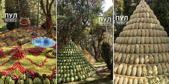Во-первых, это красиво. Таджикистан к встрече ОДКБ и ШОС украсил сады вот так
