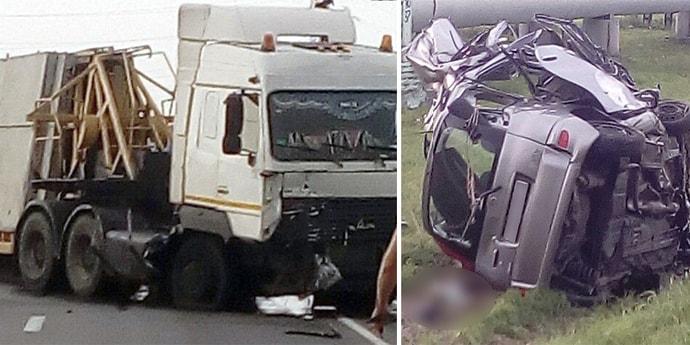 Серьезная авария в Гомеле: автопоезд столкнулся с легковым авто(видео, 9 фото, дополнено)