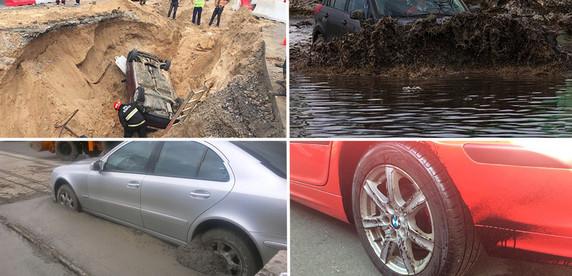 В луже по самые зеркала. 8 случаев, когда водители напрасно игнорировали предупреждения о ремонте дороги