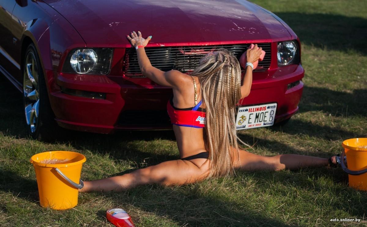 Красивая девушка моет машину видео, ебля молодых блондинок