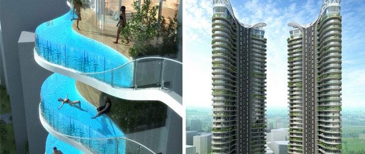 В индии построят небоскреб с бассейнами вместо балконов - не.