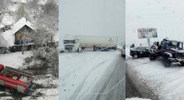 Одна погибшая, двое раненых, больше сотни поврежденных машин. На Гомельщине считают потери от снегопада
