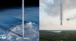 Архитекторы предложили подвесить небоскреб к астероиду