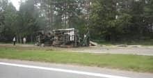 На трассе Минск — Гомель фура раздавила грузовик. Водитель погиб