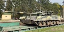 В Беларуси заметили российский танк с «Дроздом-2»